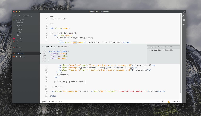 Brackets CSS edit