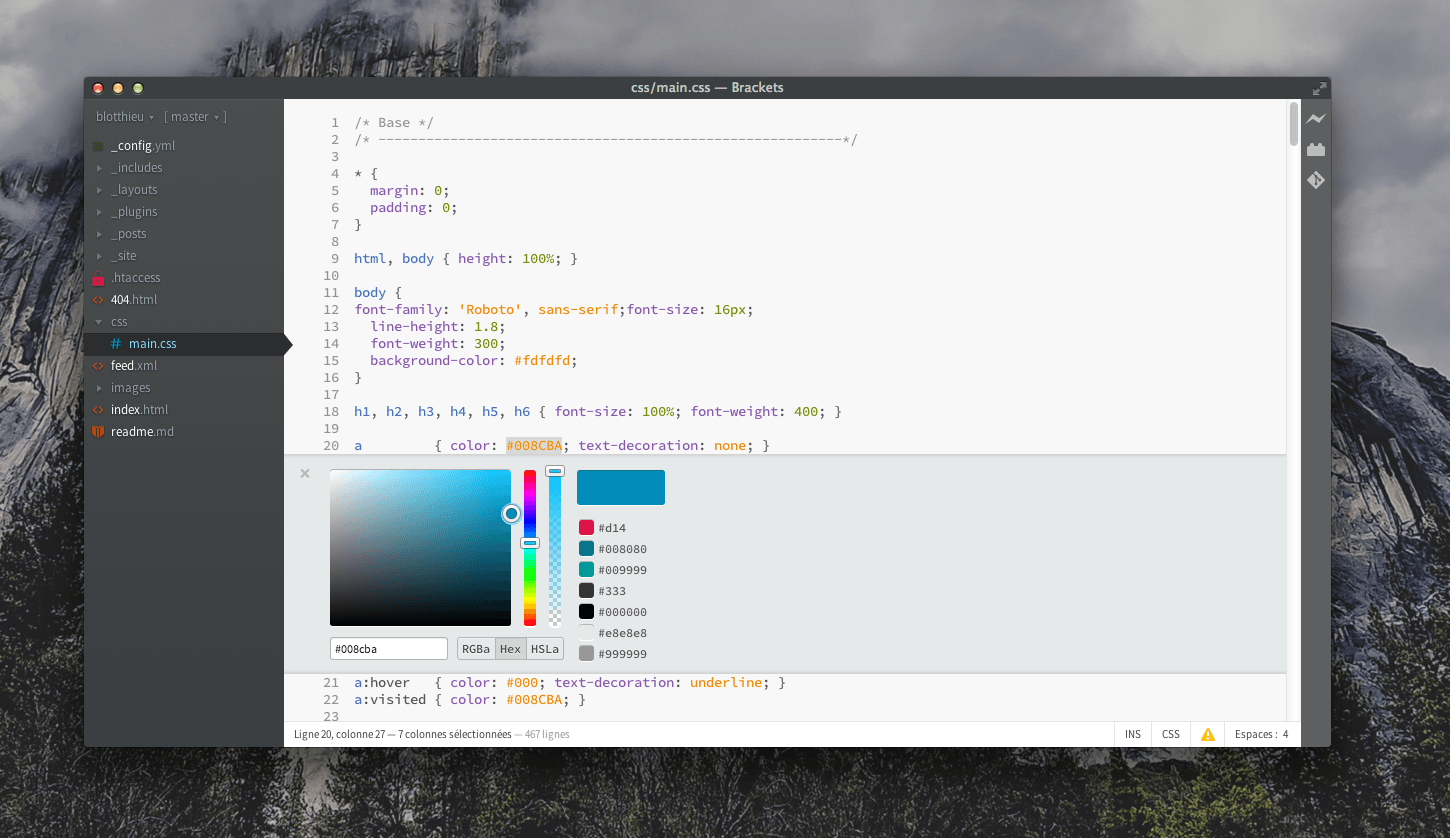 Brackets Color Picker