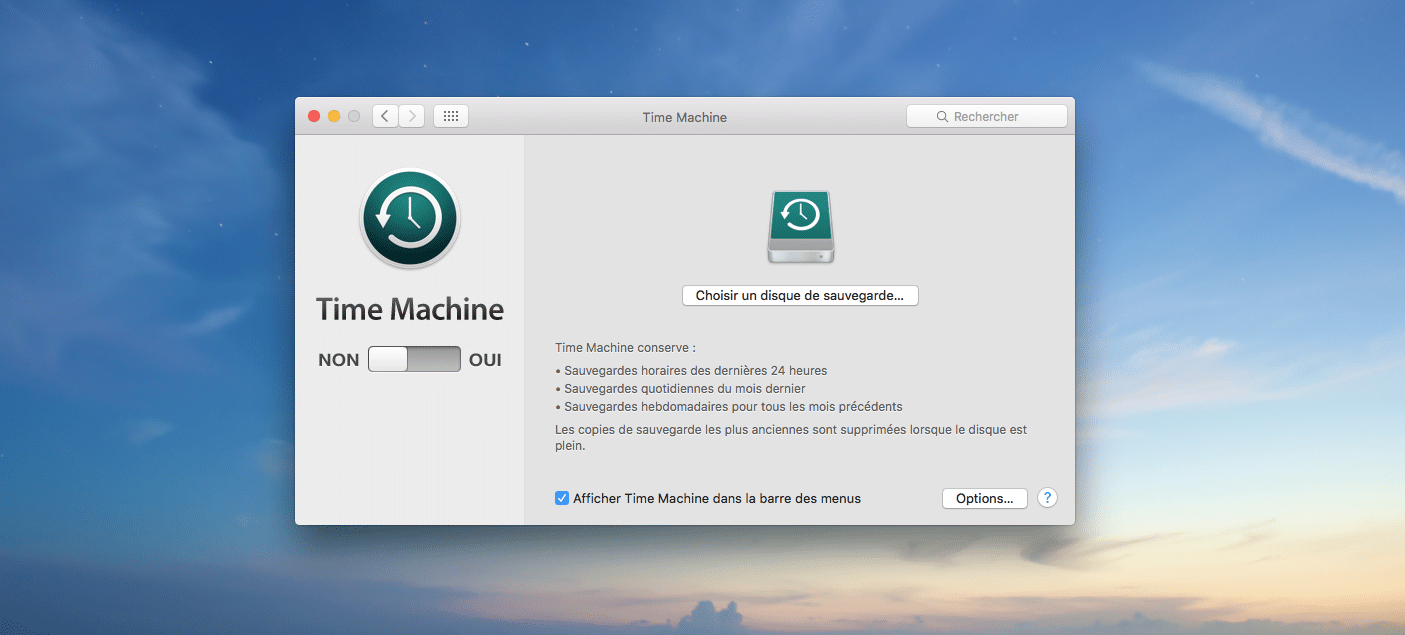TimeMachine, la solution Apple